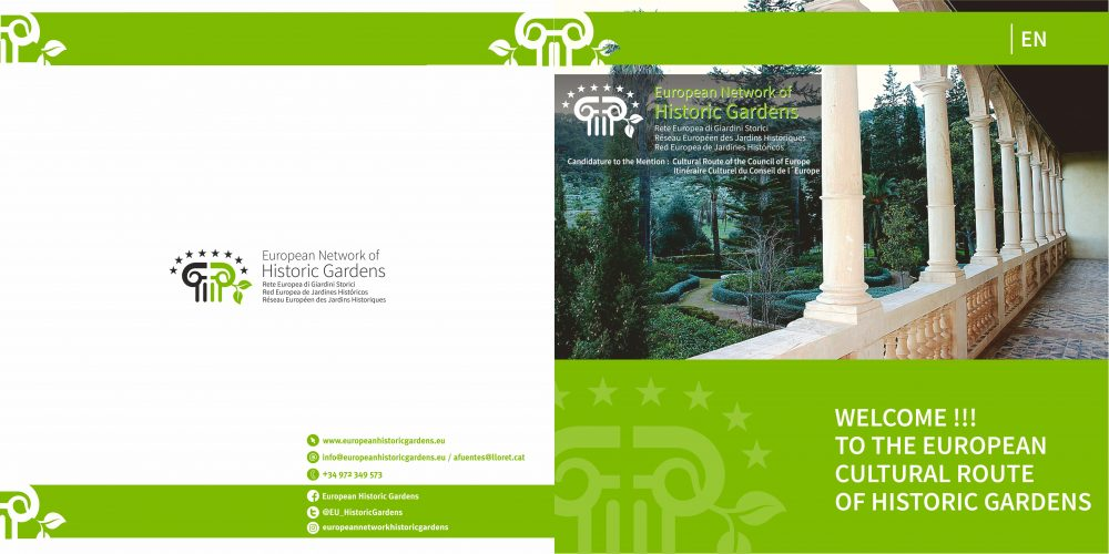 NEW BROCHURE OF THE EUROPEAN NETWORK OF HISTORIC GARDENS
