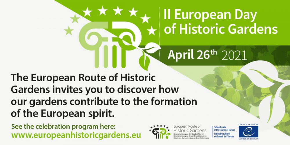 Celebrate with us the II European Day of Historic Gardens next Monday 26th April!